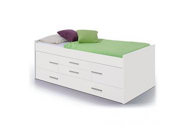 Cama con cajones compra barato camas con cajones online for Cama con cajones 90x190