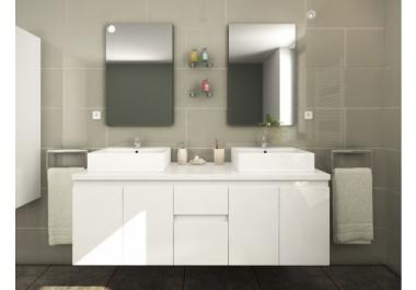 Lavabo doble compra barato lavabos dobles online en livingo - Lavabo doble seno ...
